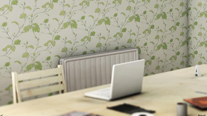 heat sensitive wall paper