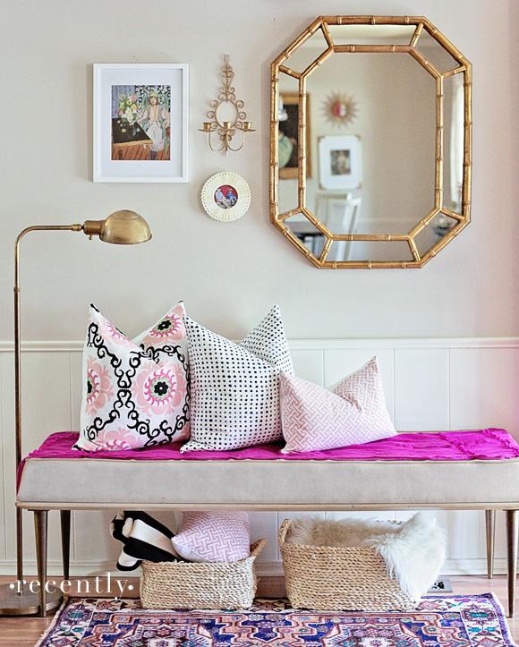 furbish-pillows-entry-bamboo-mirror-gold-lamp