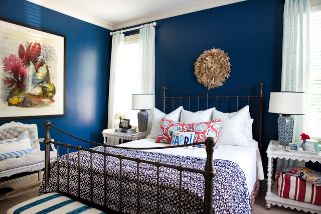 a week of design – a bold blue bedroom