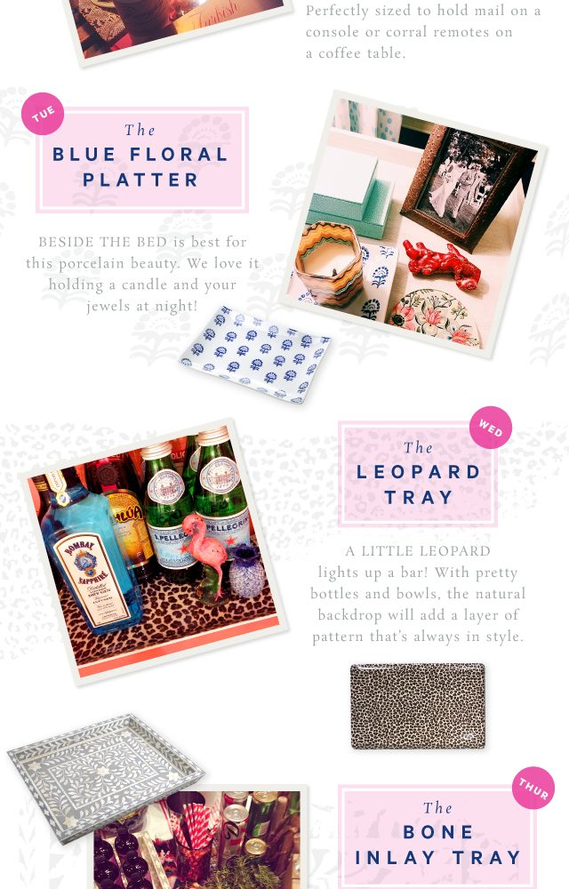 a tray a day – 5 ideas that are tres cool