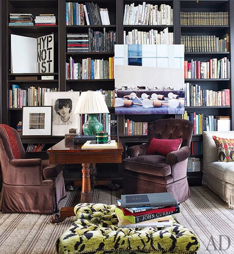 bookcase of the day in a jeffrey bilhuber designed manhattan townhouse
