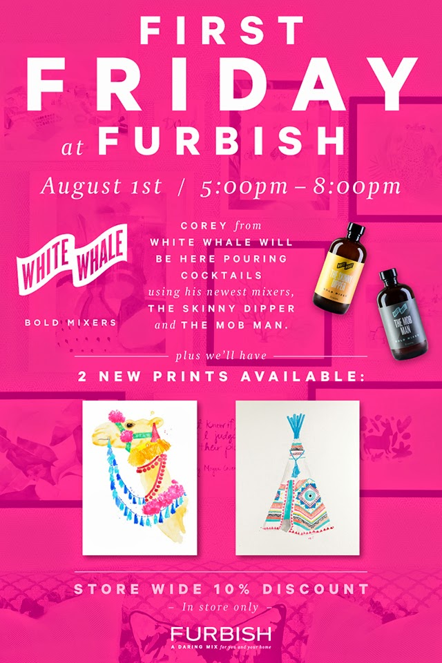 First Friday tonight at furbish – cocktails and kooky art
