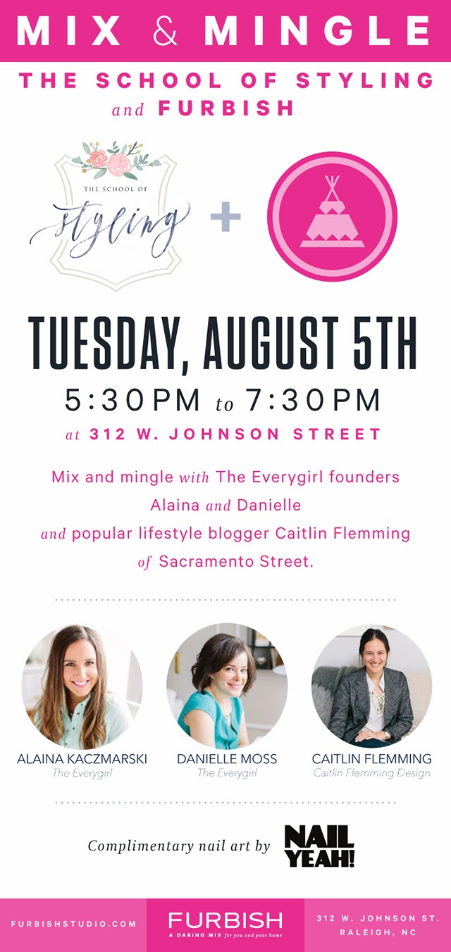 join us for champagne, creative ladies and convo tonight!