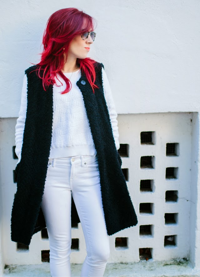 easy outfit – sleeveless jacket