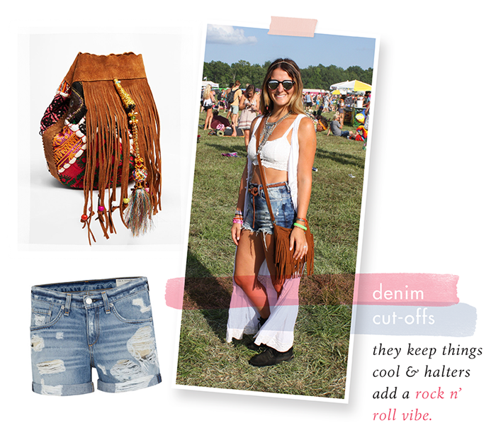 summer festival style fashion bonnaroo cutoffs shorts hippie guide