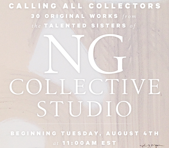 new nude nows!  NG collective pop-up shop starts today