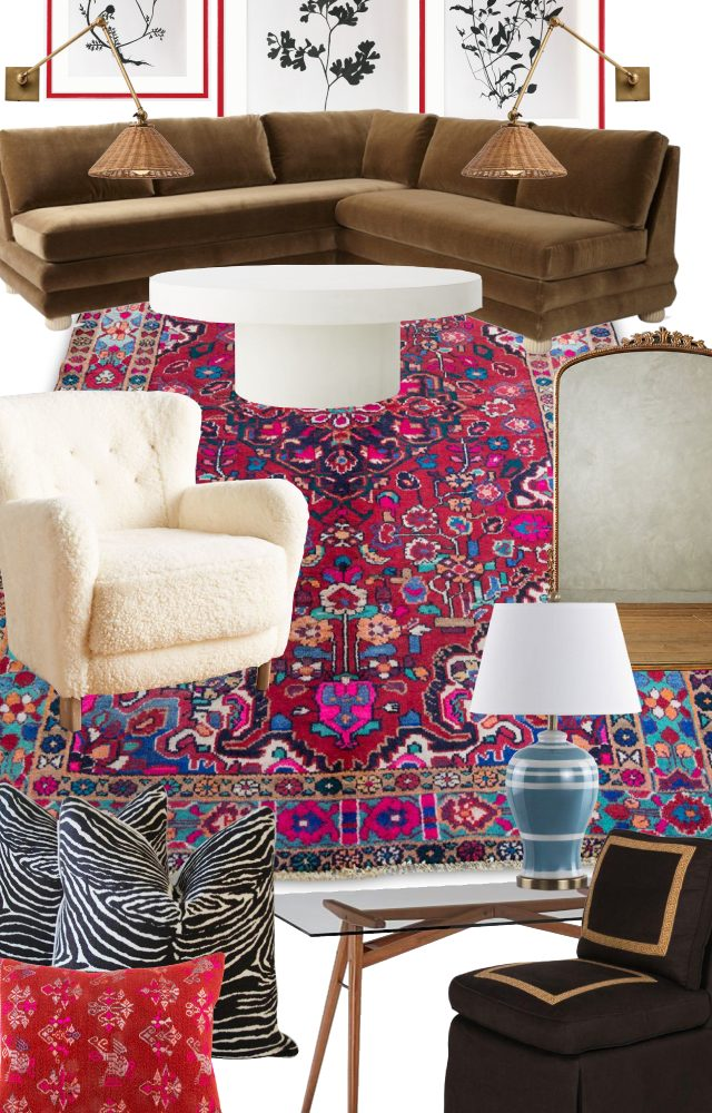 designing a room around a Persian rug