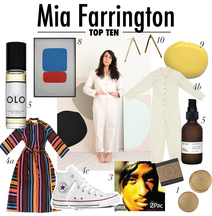 top ten with artist Mia Farrington