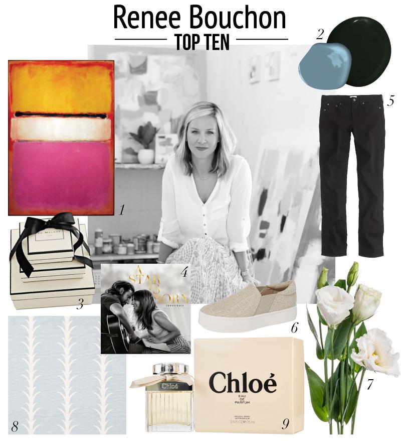 top ten with artist Renee Bouchon