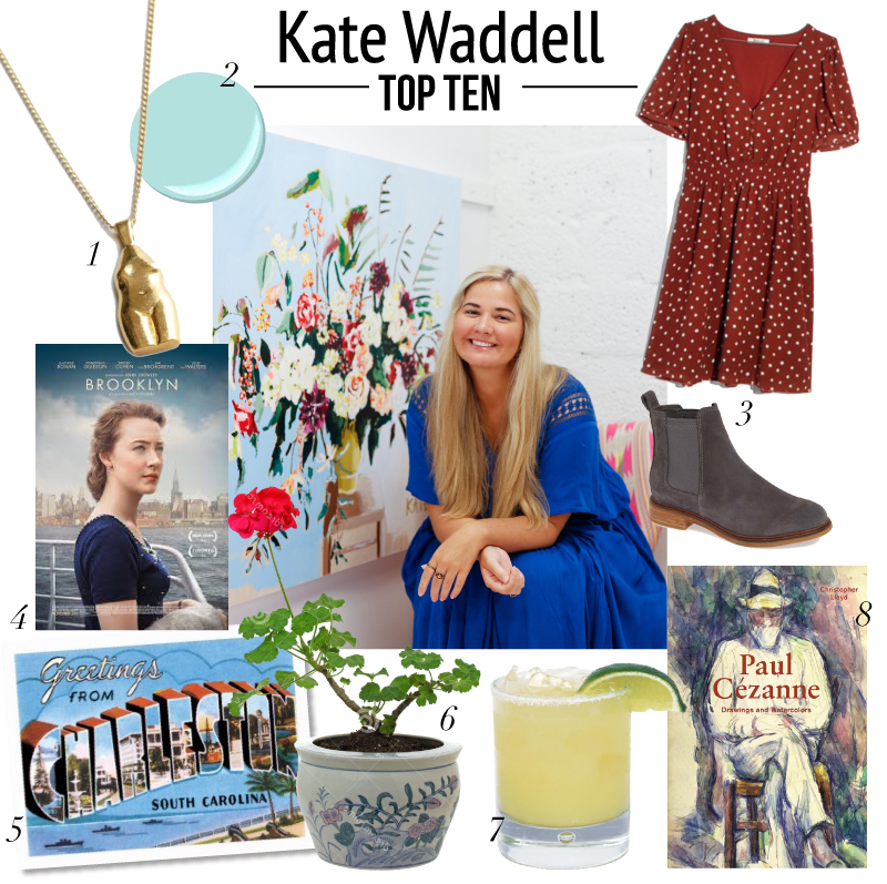 top ten with artist Kate Waddell