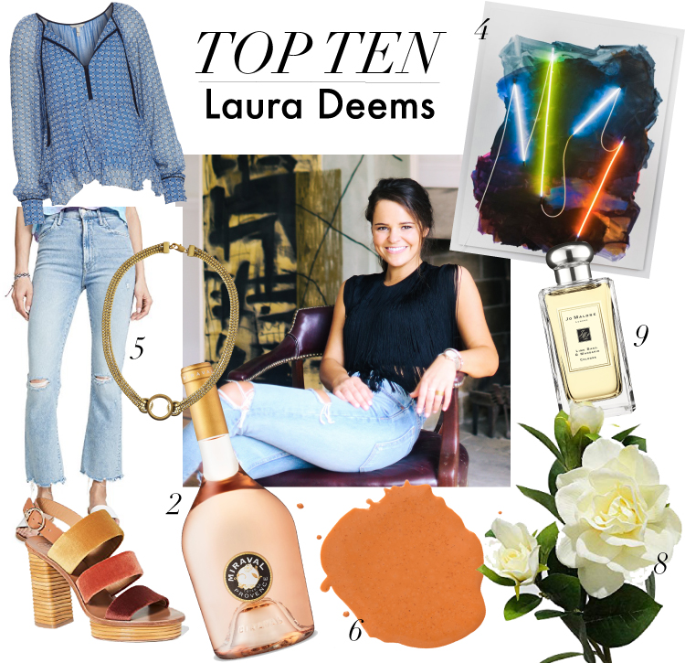 top ten with artist Laura Deems