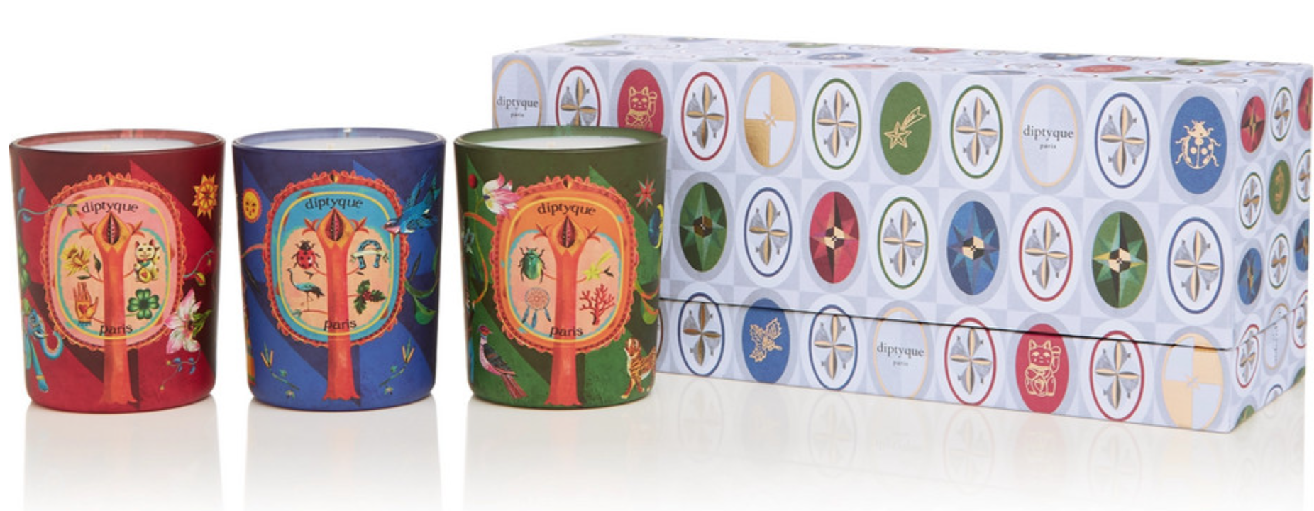 DIPTYQUE Set of three scented candles