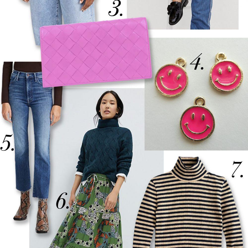 sweaters, swishy skirts and striped bits