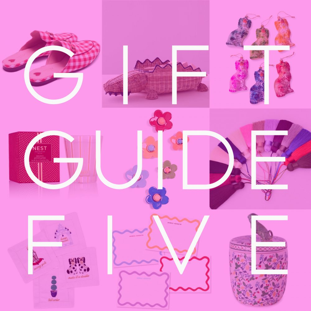 GIFT GUIDE FIVE: PREP-POSITIONS